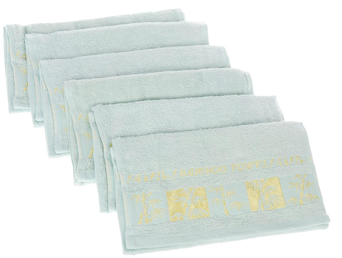 Набор полотенец Brielle Bamboo Gold, цвет: мятный, 30 х 50 см, 6 шт1211Набор Brielle Bamboo Gold состоит из шести полотенец, выполненных на 70% из бамбука и на 30% из хлопка. Изделия отлично впитывают влагу, быстро сохнут, сохраняют яркость цвета и не теряют формы даже после многократных стирок. Полотенца Brielle Bamboo Gold очень практичны и неприхотливы в уходе. Такой набор послужит приятным подарком.