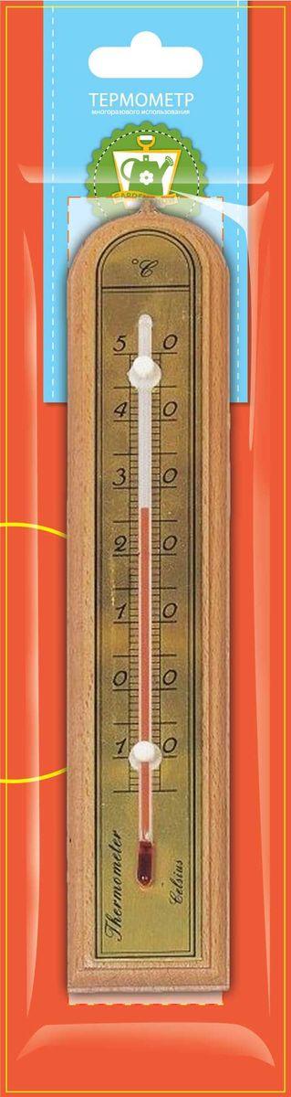 Термометр комнатный Garden Show, цвет: светлое дерево, 5,0 х 26,2 см466104Термометр комнатный Garden Show 5,0х26,2см, светлое дерево