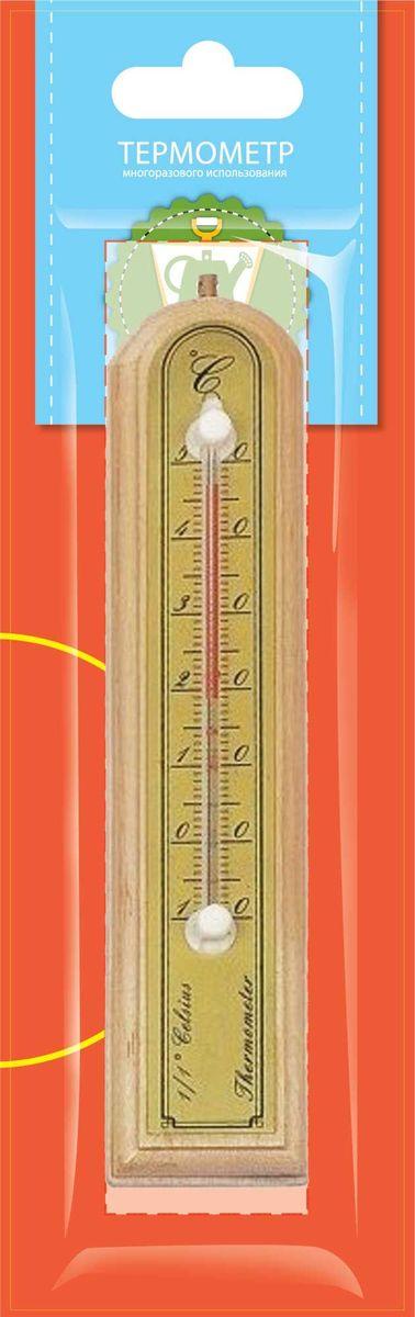 Термометр комнатный Garden Show, цвет: светлое дерево, 3,9 х 18,8 см466106Термометр комнатный Garden Show 3,9х18,8см, светлое дерево