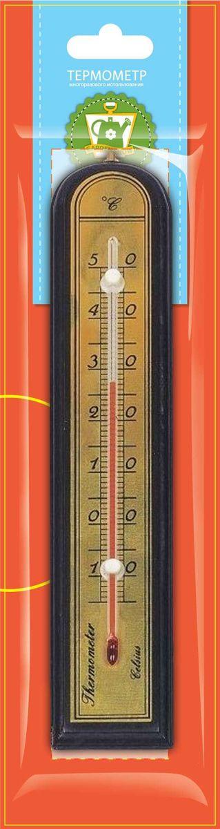 Термометр комнатный Garden Show, цвет: красное дерево, 5,0 х 26,2 см466110Термометр комнатный Garden Show 5,0х26,2см, красное дерево