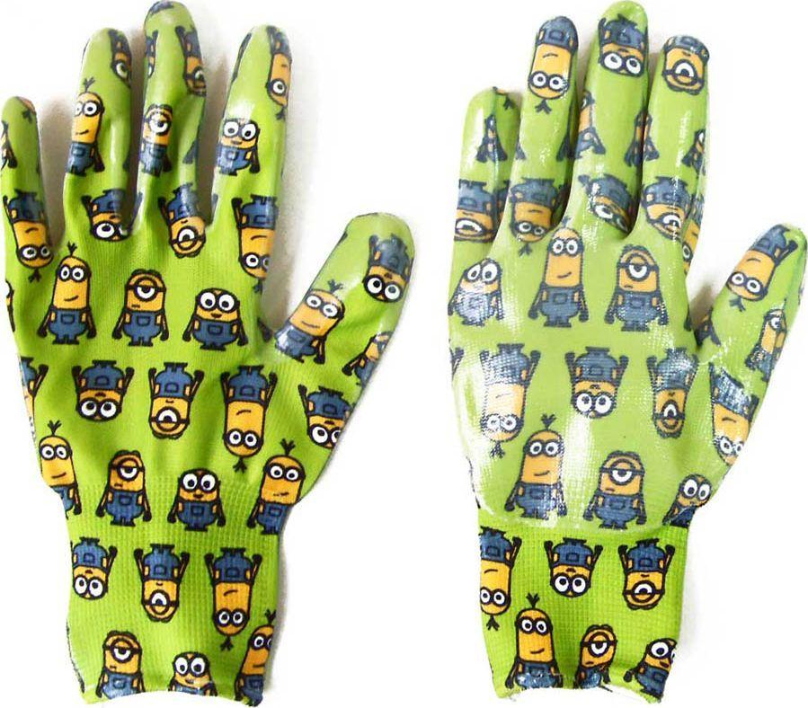 Перчатки садовые Garden Show Миньоны, нейлоновые, с нитриловым покрытием. Размер M (9)466324Перчатки садовые Garden Show нейлоновые с нитриловым покрытием МИНЬОНЫ РАЗМЕР M 9