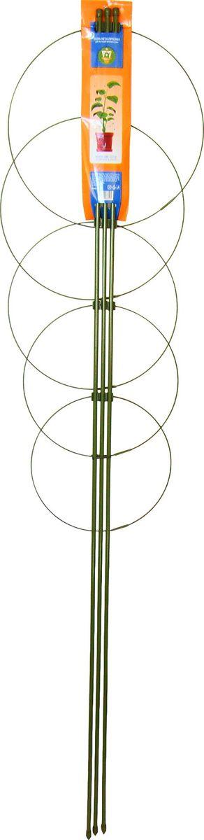 Опора для растений Garden Show, круглая (5 кольц), высота 150 см466342Опора для растений Garden Show Круглая (5 колец) металл h150см