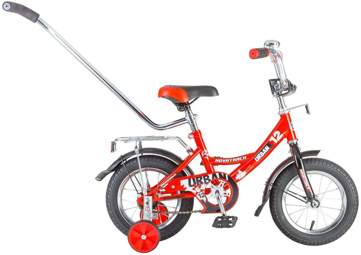 Велосипед детский Novatrack Urban, цвет: красный, 12124URBAN.RD6Велосипед Novatrack Urban c 12-дюймовыми колесами это надежный велосипед для малышей 2-4 лет. Высокое качество сборки гарантирует, что велосипед прослужит долго, даже если ваш малыш будет гонять на нем ежедневно по несколько часов подряд. Велосипед оснащен защитой цепи, которая не позволит ногам и одежде попасть в мезанизм. Еще одно средство, способствующее безопасному вождению велосипеда в любых дорожных условиях ограничитель поворота руля. который не позволит маленькому велосипедисту слишком сильно повернуть руль и таким образом создать себе все условия для неминуемого падения. Да и учиться ездить с таким приспособлением гораздо удобнее, ведь руль не крутится вокруг своей оси, а значит, и двигаться велосипед будет аккуратно и всегда именно туда, куда нужно. Велосипед оборудован багажником обязательным атрибутом любого детского велосипеда, ведь как же еще перевозить свои игрушки и другие нужные мелочи во время прогулок Для безопасности установлено целых 4 светоотражателя задний,...