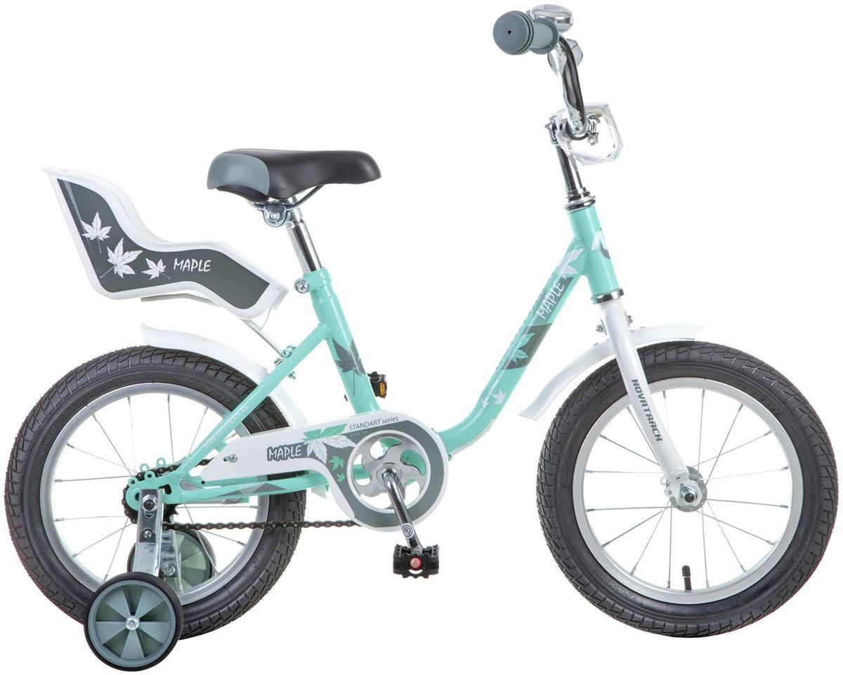 """Велосипед детский Novatrack """"Maple"""", цвет: зеленый, 14"""" 144MAPLE.GR7"""