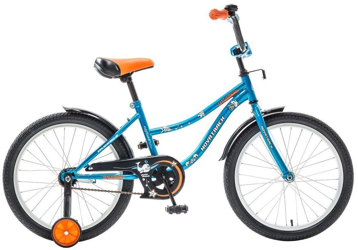 Велосипед детский Novatrack Neptune, цвет: синий, 20203NEPTUN.BL5Novatrack Neptun 20'' – это отличный подарок для ребенка 7-10 лет. Эта модель объединяет в себе привлекательный дизайн, легкость, отличную управляемость и универсальность. Ваш ребенок будет просто счастлив, став обладателем такой замечательной техники. Novatrack Neptun 20'' полностью подготовлен для того, чтобы маленьким велосипедистам было комфортно и интересно учиться самостоятельно кататься. Яркий дизайн, регулируемые сидение и руль с надежной фиксацией, защита цепи, велосипедный звонок, мягкие накладки на руле, катафоты, стильные укороченные крылья - все продумано до мелочей.