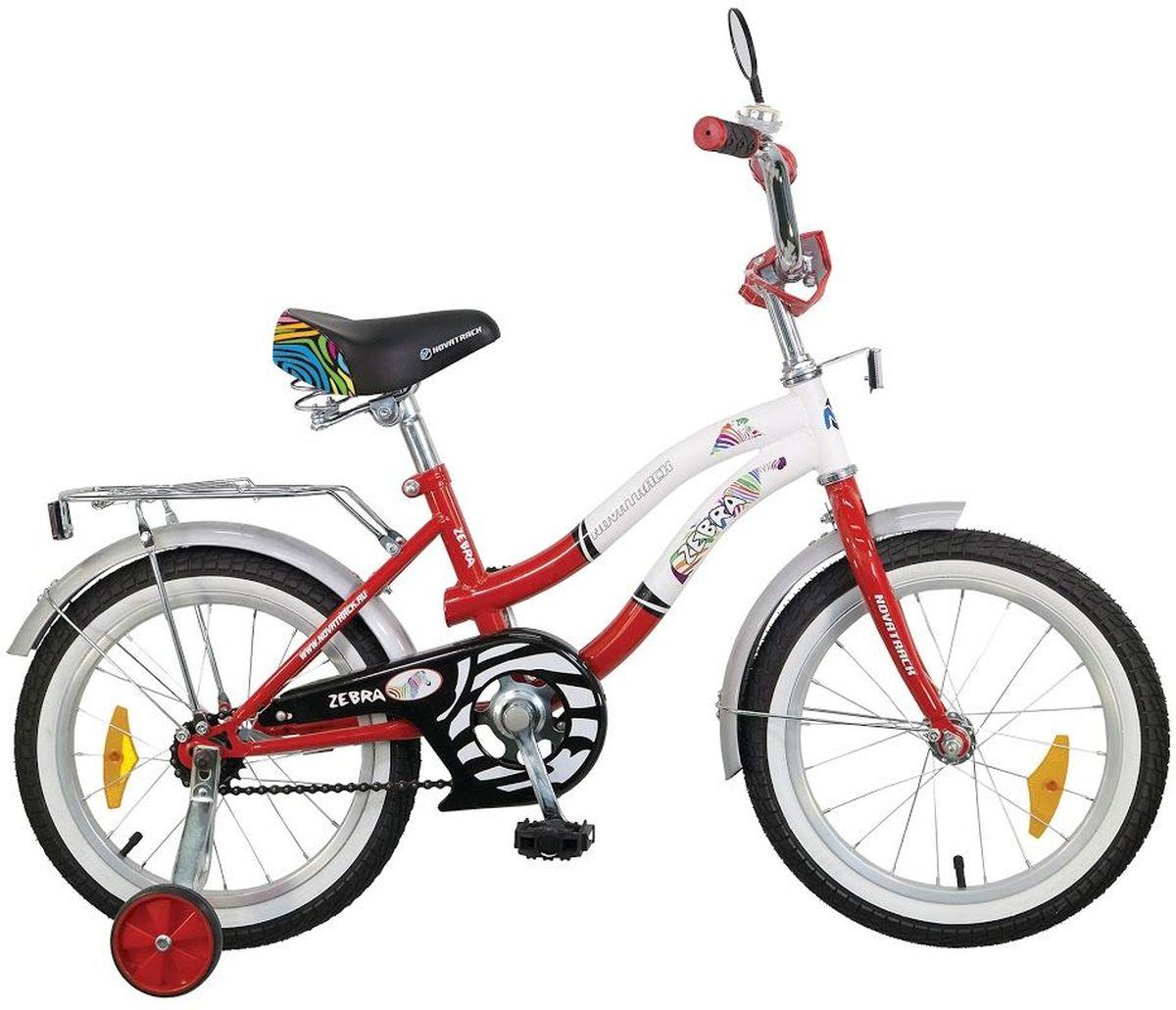 Велосипед детский Novatrack Зебра, цвет: красный, 20205ZEBRA.RD6Велосипед Novatrack Zebra c 20-дюймовыми колесами это надежный велосипед для ребят от 7 до 10 лет. Данная модель специально разработана для начинающих велосипедистов дополнительные колеса, которые можно будет снять, когда ребенок научится держать равновесие, блестящий багажник для перевозки игрушек, надежный ножной тормоз, защита цепи от попадания одежды в механизм - все это сделает каждую поездку юного велосипедиста комфортной и безопасной. Маленькому велосипедисту, будь то мальчик или девочка, обязательно понравятся блестящий звонок и зеркальце заднего вида, которые установлены на руле велосипеда. Высота сидения и руля регулируются, поэтому велосипед прослужит ребенку не один год.