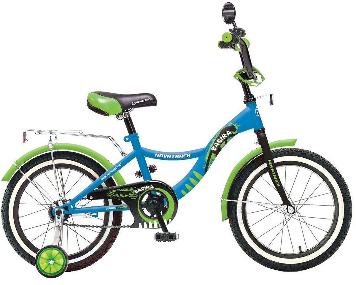 Велосипед детский Novatrack Багира, цвет: синий, 20207BAGIRA.BL6Велосипед Novatrack Bagira 20-дюймовыми колесами это современный, удобный и безопасный велосипед для девочек от 7 до 10 лет. Велосипед укомплектовали мягким регулируемым седлом, которое беспечит удобную посадку во время катания. Руль велосипеда также регулируется по высоте и наклону, благодаря чему велосипед прослужит ребенку не один год. Данная модель маневренна и легка в управлении, поэтому ребенку будет просто и интересно учиться кататься на велосипеде. По бокам имеются съемные дополнительные колеса, которые нужны до тех пор, пока ребенок не почувствует себя уверенно. Быстро затормозить поможет ножной тормоз. Для перевозки девчачих аксессуаров и всяких нужностей велосипед оснастили багажником. На руле установлен звонкий гудок и зеркальце, без которого не может обойтись ни одна модница. Над колесами располагаются хромированные крылья, которые защитят от брызг и грязи.