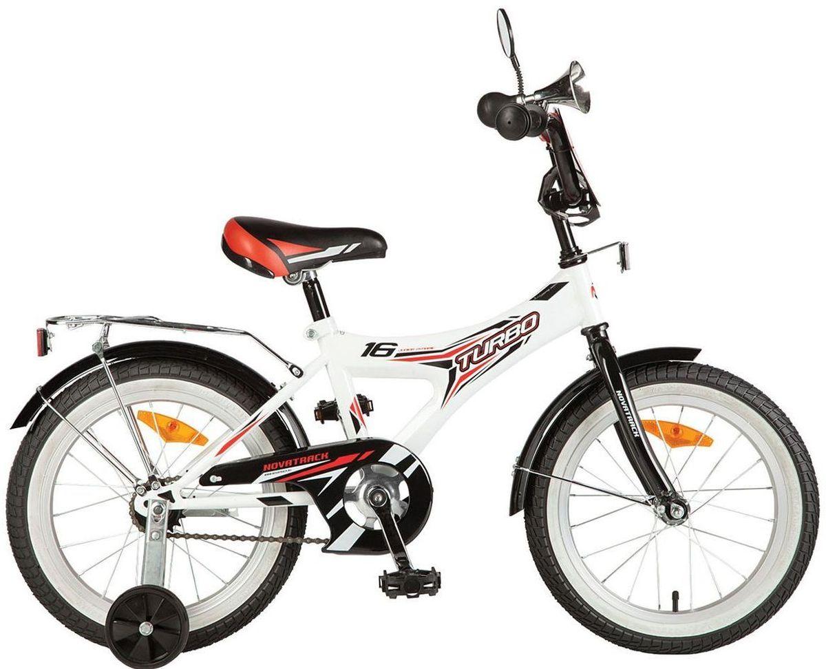 Велосипед детский Novatrack Turbo, цвет: белый, 20207TURBO.WT7Novatrack Turbo 20 - для самый активных и подвижных детишек . Дизайн велосипеда сделан в спортивном стиле , как впрочем и само название . Модель оборудована уже практическими всеми аксессуарами такими как , зеркало , клаксон и багажник сзади . А чтоб ваш ребёнок оставался сухим и чистым , на велосипед так же установили полноразмерные крылья . Такая модель отлично подойдёт для детей от 5 до 9 лет .