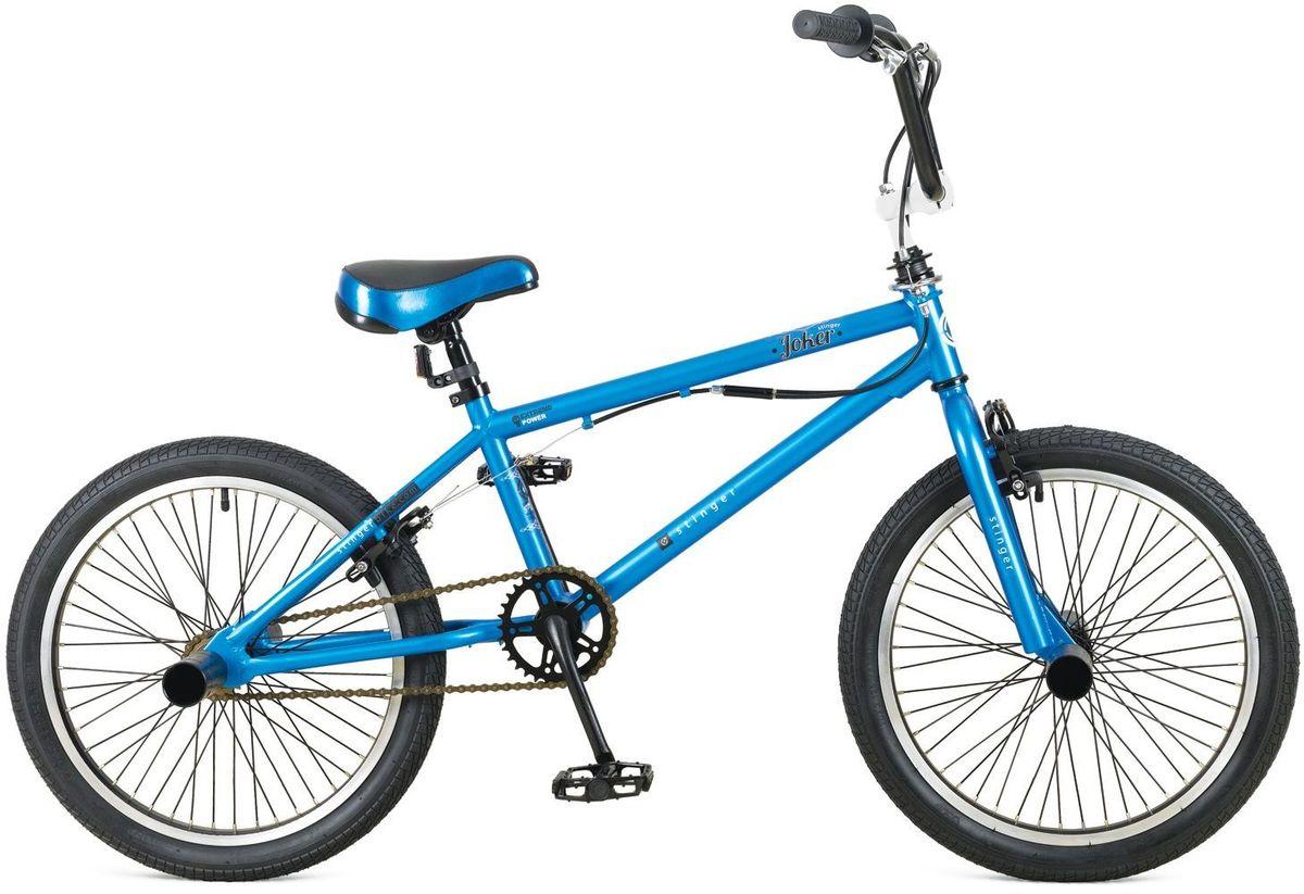 Велосипед Stinger BMX Joker, цвет: синий, 2020BMX.JOKER.10BL5BMX JOKER – это велосипед предназначенный для выполнения трюков. Его заниженная рама на основе прочной стали и жесткая вилка формируют надежную конструкцию для катания в различных стилях: стрит, парк, флетленд и других. Данная модель оснащена гироротором, благодаря которому, можно осуществлять поворот руля на 360 и более градусов, и надежными тормозами V-brake. BMX JOKER отличается своей долговечностью, простотой в обслуживании и универсальностью.