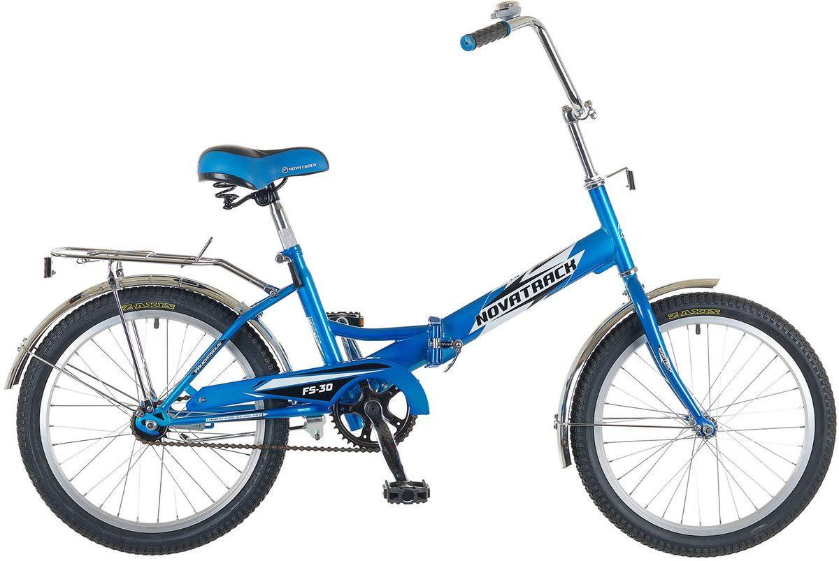 Велосипед детский Novatrack FS-30, цвет: синий, 2020FFS301.BL5Novatrack FS-30 20'' – это складной подростковый велосипед, рассчитанный на ребят 8-14 лет, который отличается неприхотливостью, хорошей управляемостью и практичностью. Стальная рама складывается пополам, позволяя разместить велосипед в автомобиле или компактно хранить его в домашних условиях. Стоит отметить широкий диапазон регулировки высоты сидения и руля, благодаря чему велосипед универсален и подойдет для ребят различного роста. Торможение осуществляется ножным тормозом, который работает при любых условиях. Велосипед оснащен хромированными крыльями, широким усиленным багажником, защитным кожухом цепи, подножкой и светоотражателями.
