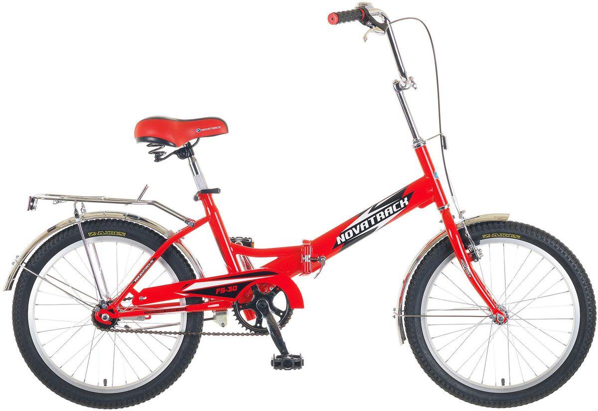 Велосипед детский Novatrack FS-30, цвет: красный, 2020FFS301V.RD5Novatrack FS-30 20'' – это складной подростковый велосипед, рассчитанный на ребят 8-14 лет, который отличается неприхотливостью, хорошей управляемостью и практичностью. Стальная рама складывается пополам, позволяя разместить велосипед в автомобиле или компактно хранить его в домашних условиях. Стоит отметить широкий диапазон регулировки высоты сидения и руля, благодаря чему велосипед универсален и подойдет для ребят различного роста. Торможение осуществляется ножным тормозом, который работает при любых условиях. Велосипед оснащен хромированными крыльями, широким усиленным багажником, защитным кожухом цепи, подножкой и светоотражателями.