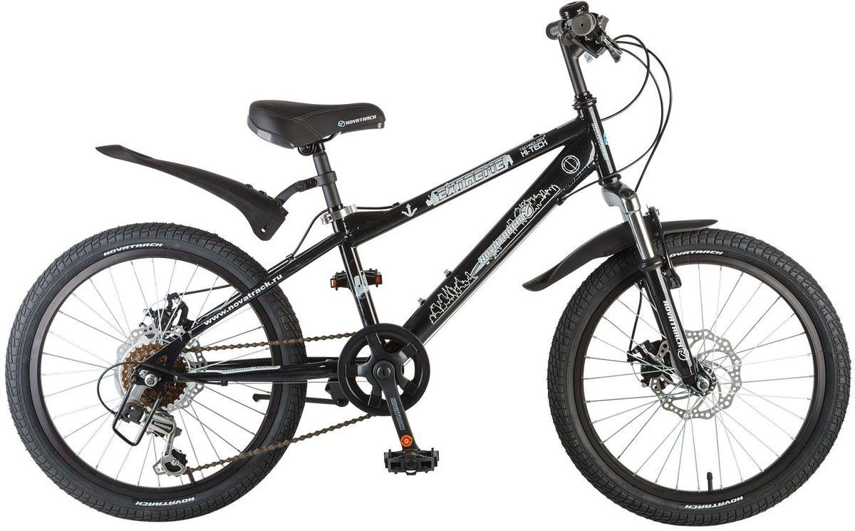 Велосипед детский Novatrack Extreme, цвет: черный, 2020SH6D.EXTREME.BK7Novatrack Extreme 20'' – это безопасный и надежный велосипед для мальчиков 7-10 лет, который поможет освоить азы катания на скоростном велосипеде. 20 дюймовые колеса уже отличают эту модель от велосипедов, на которых катаются дошколята. Велосипед оснащен 6-скоростной системой переключения передач, амортизационной вилкой, передним ручным тормозом, регулируемым сидением и рулем, для обеспечения удобной посадки. Велосипед достаточно легкий, поэтому ребенок сможет самостоятельно его транспортировать из дома во двор. Extreme 20'' предназначен для активной езды и готов к любым испытаниям на детской площадке, в парке и других местах, пригодных для катания.