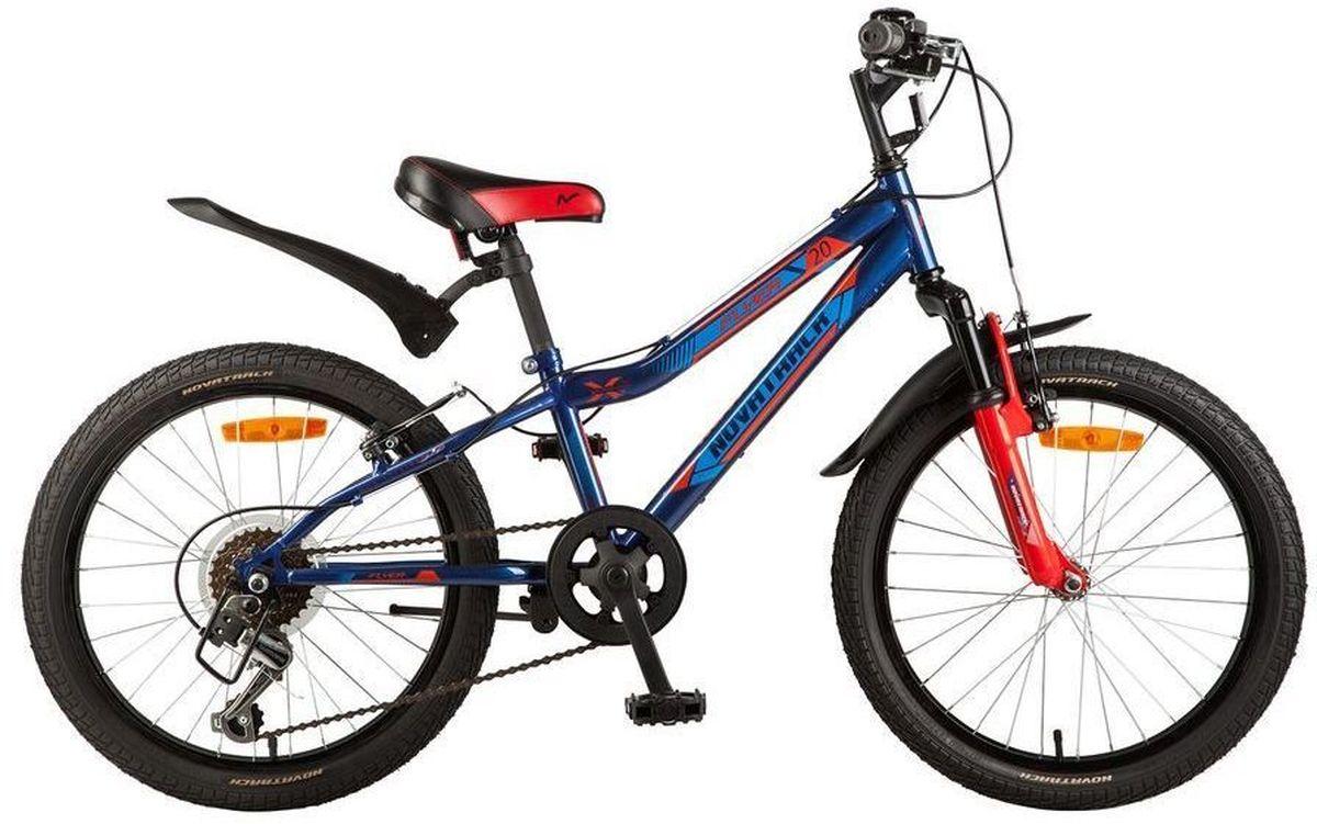Велосипед детский Novatrack Flyer, цвет: синий, 2020SH6V.FLYER.BL7Велосипед Novatrack Flyer 20''- это велосипед для ребят 7-10 лет, коорый позволит легко освоить азы катания на скоростном велосипеде. Привлекательный дизайн, надежная сборка, легкость и отличная управляемость – это еще не все плюсы данной модели. Велосипед укомплектовали мягким регулируемым седлом, которое обеспечит удобную посадку во время катания. Руль велосипеда также регулируется по высоте и наклону, благодаря чему велосипед прослужит ребенку не один год. 6-скоростей, которые очень просто переключать, превратят любую поездку в увлекательный процесс. Передний амортизатор превращает велосипед в настоящий байк-внедорожник, который готов покорять городские дворы и парки. Для безопасности на велосипед установлены светоотражатели: на переднем и заднем колесе, а также на руле и подседельном штыре. Надежные тормоза типа V-brake позволят быстро затормозить в необходимый момент.