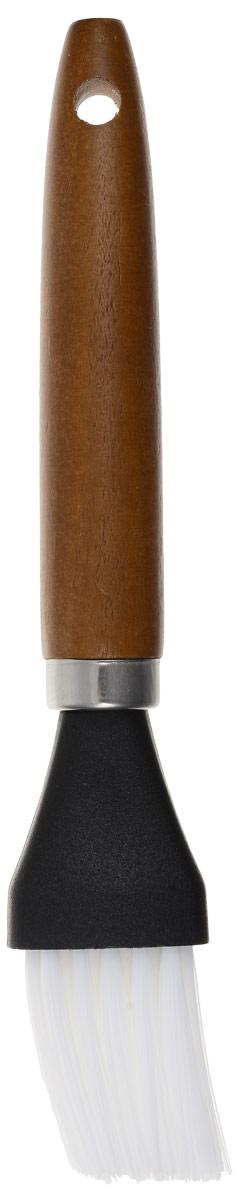 Кисть кондитерская Atlantis, цвет: коричневый, черный, белый, длина 19 смC231VКондитерская кисть Atlantis станет вашим незаменимым помощником на кухне. Рабочая часть кисточки выполнена из нейлона, ручка изготовлена из дерева. Изделие оснащено отверстием для подвешивания. Кисть Atlantis- практичный и необходимый подарок любой хозяйке. Можно мыть в посудомоечной машине. Длина кисти: 19 см. Размер рабочей части: 4 х 3 см.