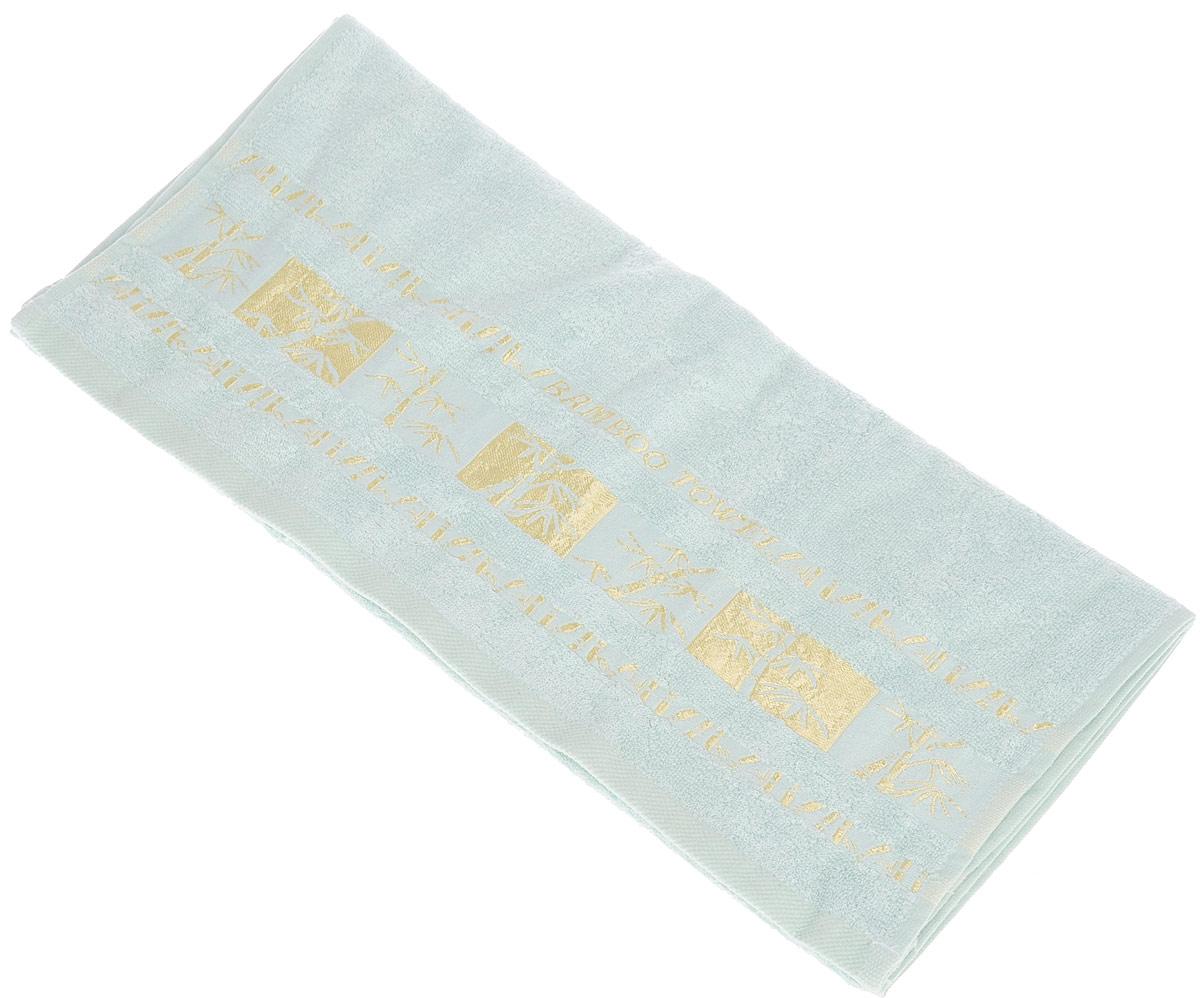 Полотенце Brielle Bamboo Gold, цвет: мятный, 50 х 90 см1212Полотенце Brielle Bamboo Gold выполнено из бамбука с содержанием хлопка. Изделие очень мягкое, оно отлично впитывает влагу, быстро сохнет, сохраняет яркость цвета и не теряет формы даже после многократных стирок. Одна из боковых сторон оформлена оригинальным рисунком и надписью. Полотенце Brielle Bamboo Gold очень практичны и неприхотливы в уходе. Такой набор послужит приятным подарком.