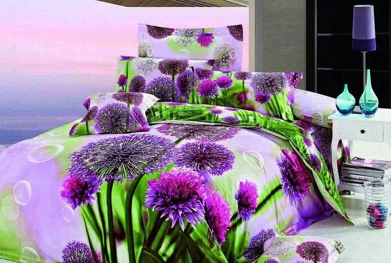 Комплект белья МарТекс Луг, 2-спальный, наволочки 70х70. 01-0091-201-0091-2