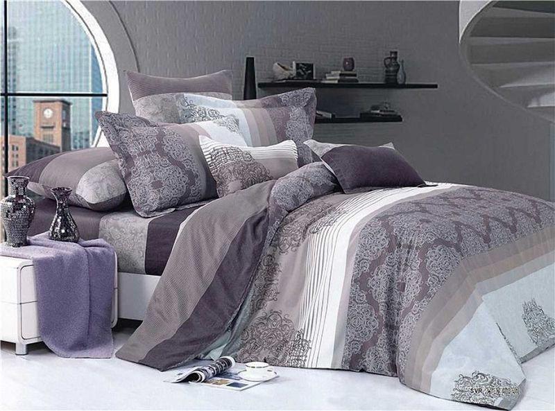 Комплект белья МарТекс Аметист, 1,5-спальный, наволочки 50х70. 01-0147-101-0147-1