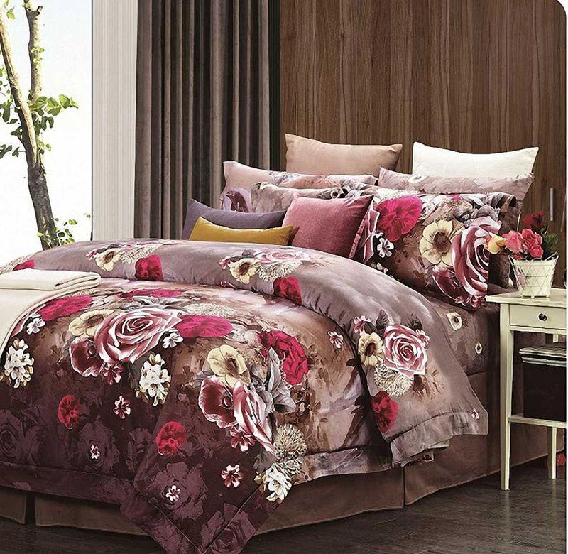 Комплект белья МарТекс Ирис, 2-спальный, наволочки 70х70. 01-0230-201-0230-2