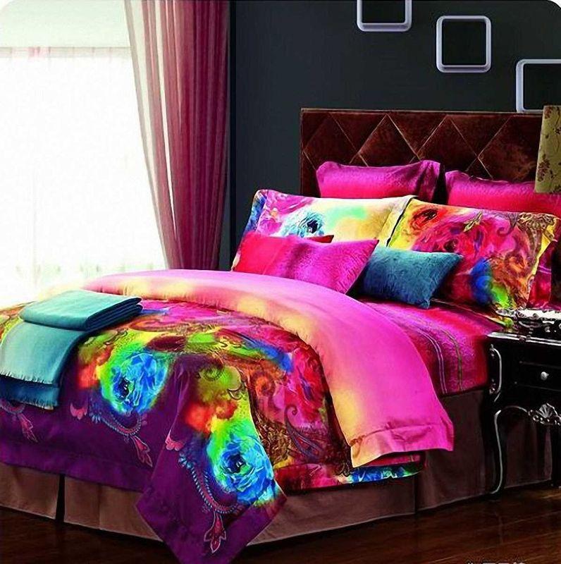 Комплект белья МарТекс Акварель, 2-спальный, наволочки 70х70. 01-0231-201-0231-2
