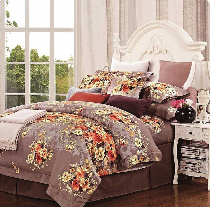 Комплект белья МарТекс Нежный аромат, 2-спальный, наволочки 70х70. 01-0233-201-0233-2
