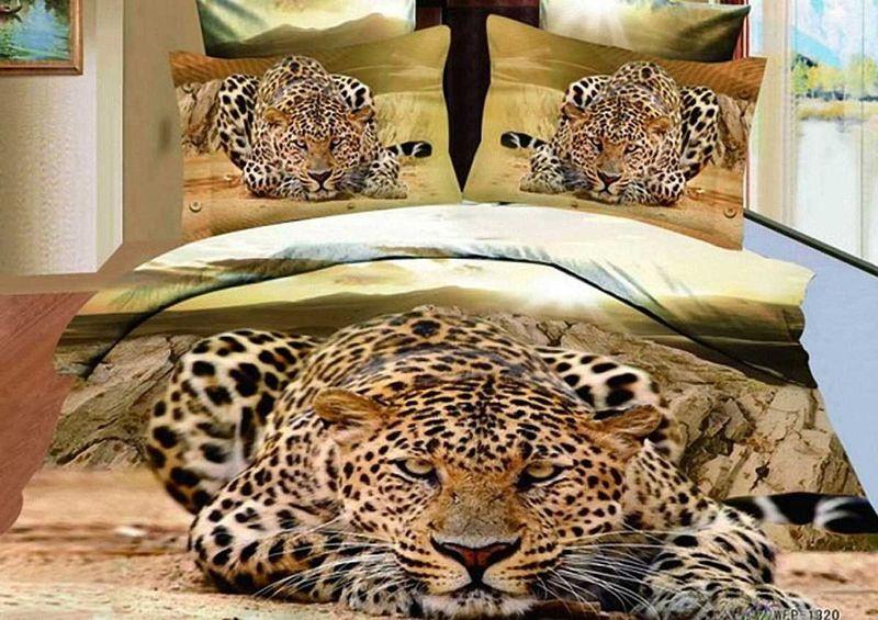 Комплект белья МарТекс Взгляд, 1,5-спальный, наволочки 50х70. 01-0486-101-0486-1
