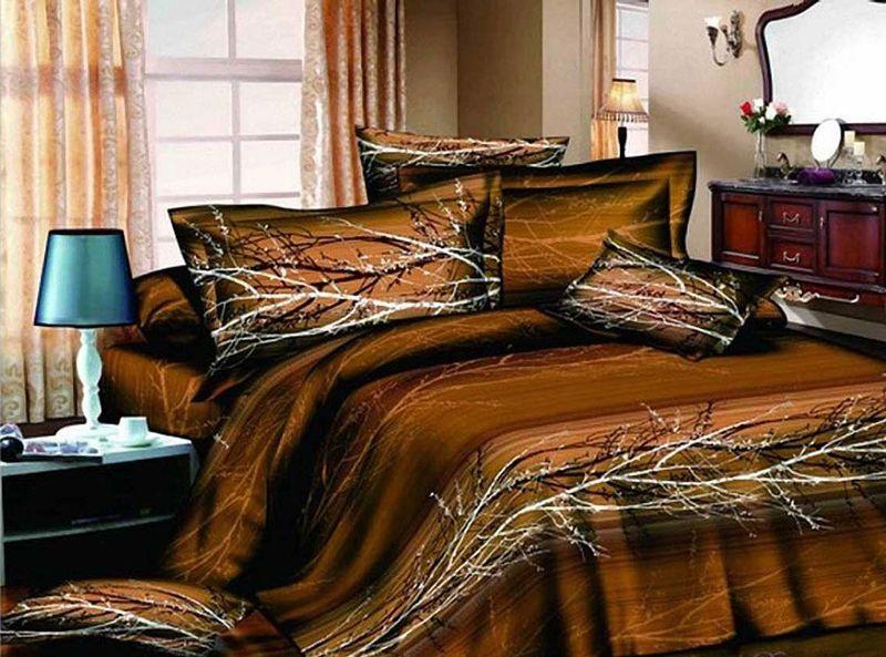 Комплект белья МарТекс Осень, 1,5-спальный, наволочки 50х70. 01-0487-101-0487-1