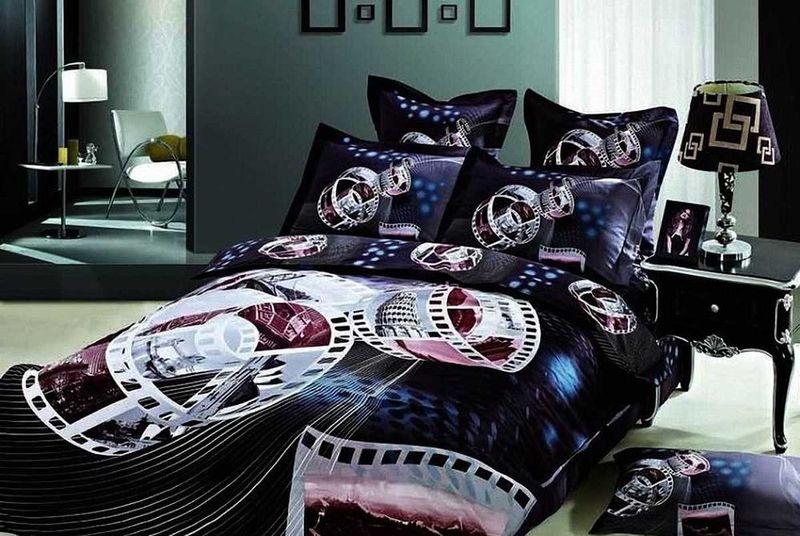 Комплект белья МарТекс Синема, 1,5-спальный, наволочки 50х70. 01-0492-101-0492-1