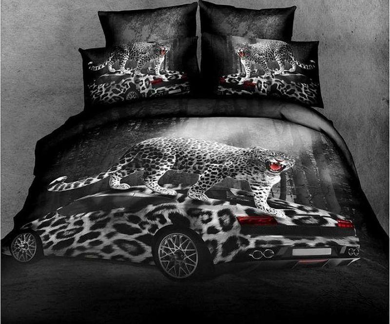 Комплект белья МарТекс Ягуар, 1,5-спальный, наволочки 50х70. 01-0493-101-0493-1