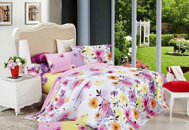 Комплект белья МарТекс Глория, 1,5-спальный, наволочки 50х70. 01-0515-101-0515-1