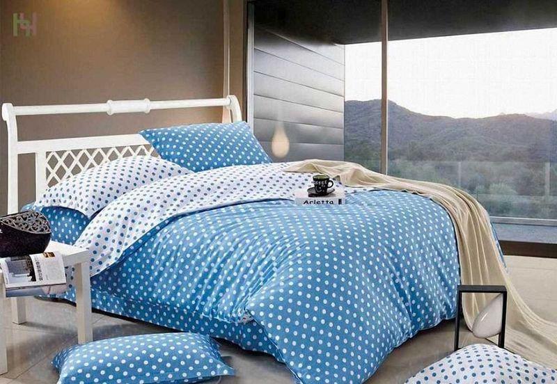 Комплект белья МарТекс Идилия голубая, 1,5-спальный, наволочки 50х70. 01-0531-101-0531-1