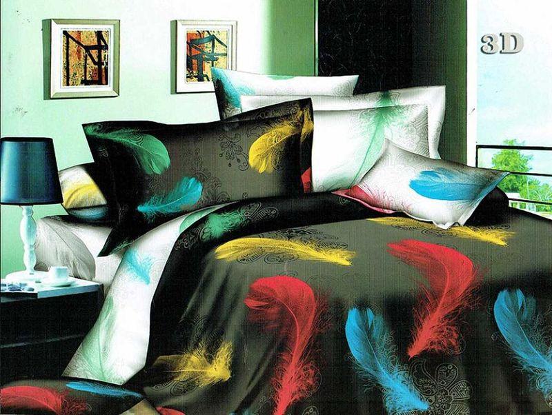 Комплект белья МарТекс Мечта, 1,5-спальный, наволочки 70х70. 01-1073-101-1073-1