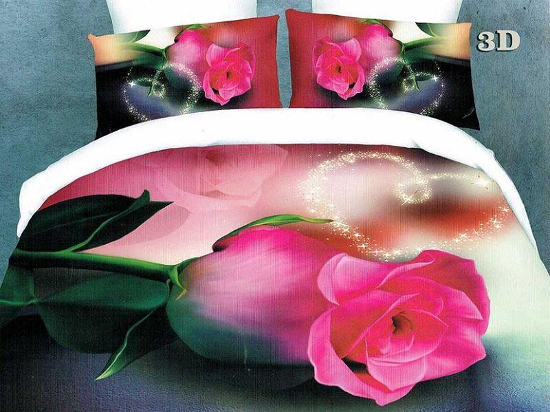 Комплект белья МарТекс Моника, 2-спальный, наволочки 70х70. 01-1074-201-1074-2