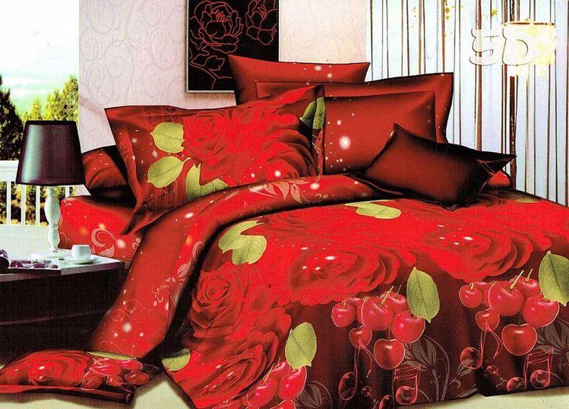Комплект белья МарТекс Соната, 1,5-спальный, наволочки 70х70. 01-1077-101-1077-1