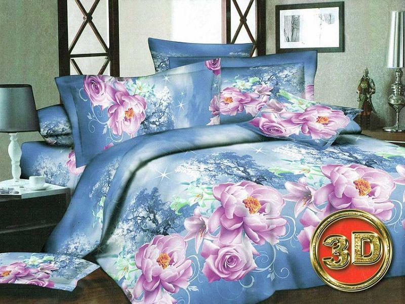 Комплект белья МарТекс Розалина, 2-спальный, наволочки 70х70. 01-1083-201-1083-2