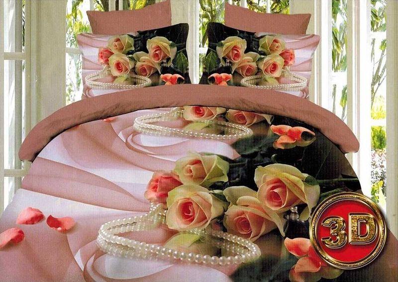 Комплект белья МарТекс Маргарита, 1,5-спальный, наволочки 70х70. 01-1100-101-1100-1