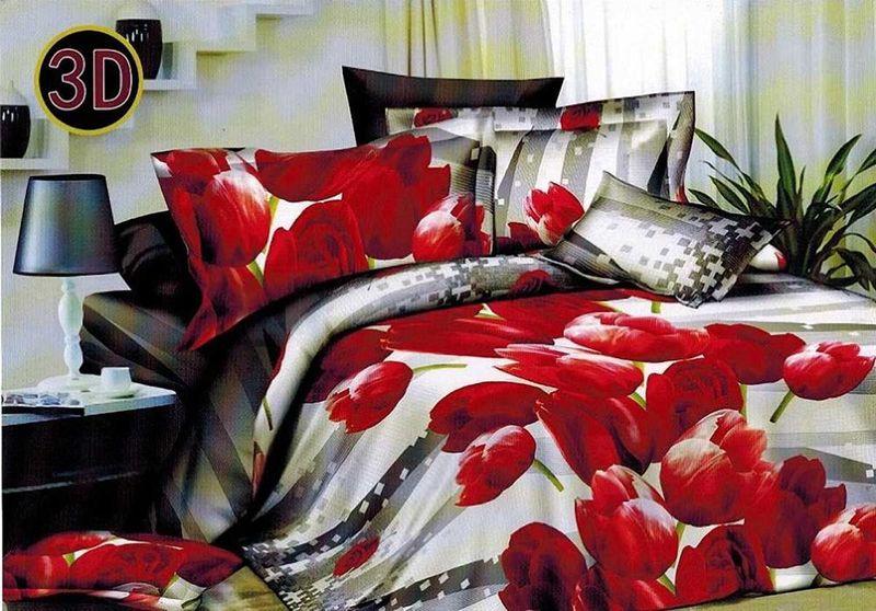 Комплект белья МарТекс Радость, 2-спальный, наволочки 70х70. 01-1110-201-1110-2