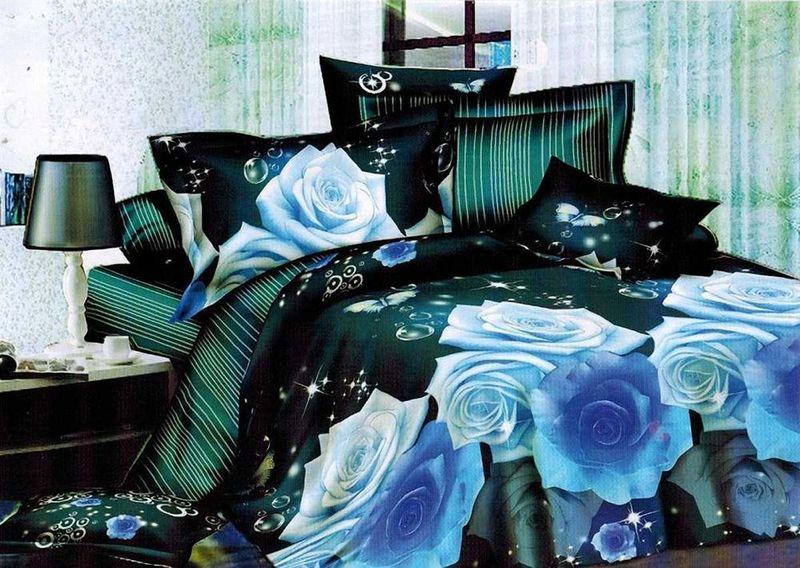 Комплект белья МарТекс, 1,5-спальный, наволочки 70х70. 01-1129-101-1129-1