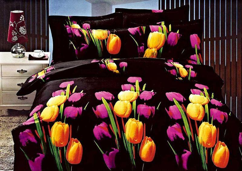 Комплект белья МарТекс, 1,5-спальный, наволочки 70х70. 01-1135-101-1135-1