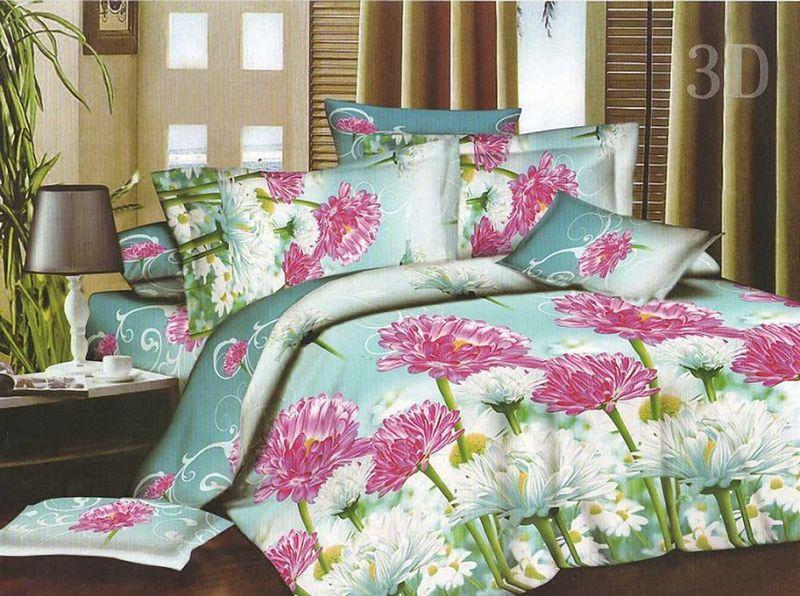 Комплект белья МарТекс, 1,5-спальный, наволочки 70х70. 01-1141-101-1141-1