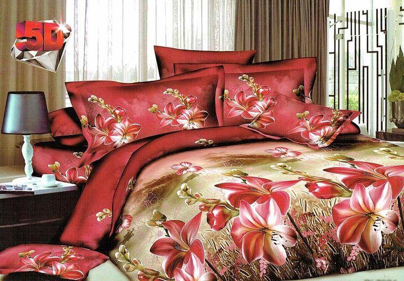 Комплект белья МарТекс Кариф, 1,5-спальный, наволочки 70х70. 01-1187-101-1187-1