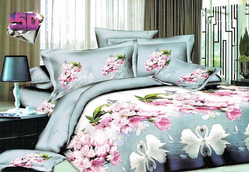 Комплект белья МарТекс Нисан, 1,5-спальный, наволочки 70х70. 01-1193-101-1193-1
