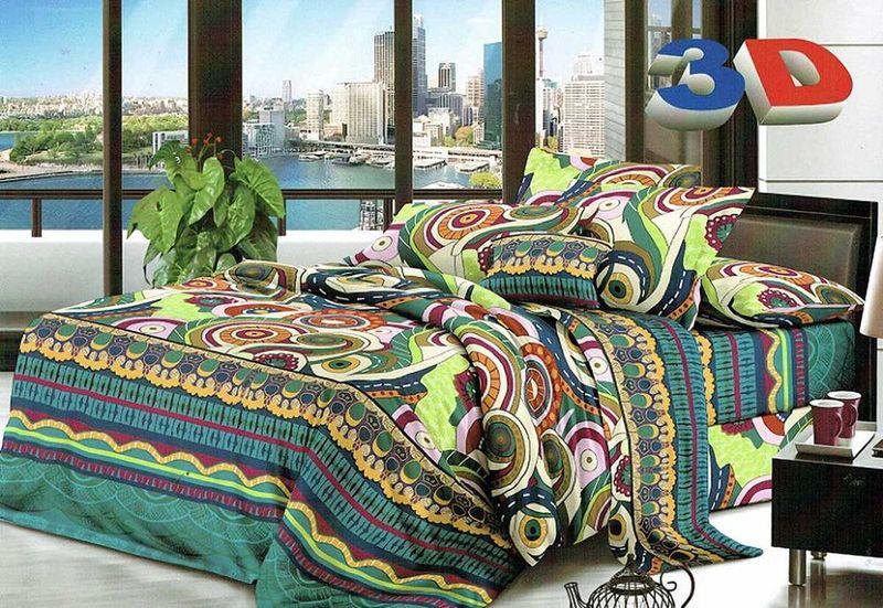 Комплект белья МарТекс Фантазия, 1,5-спальный, наволочки 70х70. 01-1205-101-1205-1