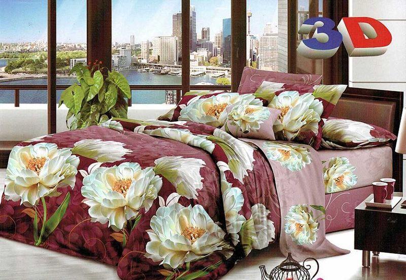Комплект белья МарТекс Гарра, 1,5-спальный, наволочки 70х70. 01-1208-101-1208-1