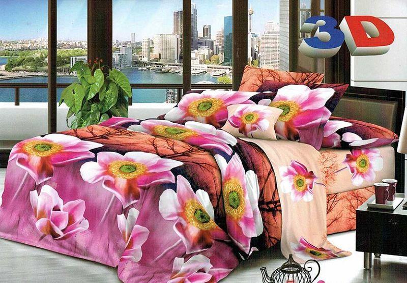 Комплект белья МарТекс  Ангара, 2-спальный, наволочки 70х70. 01-1210-201-1210-2