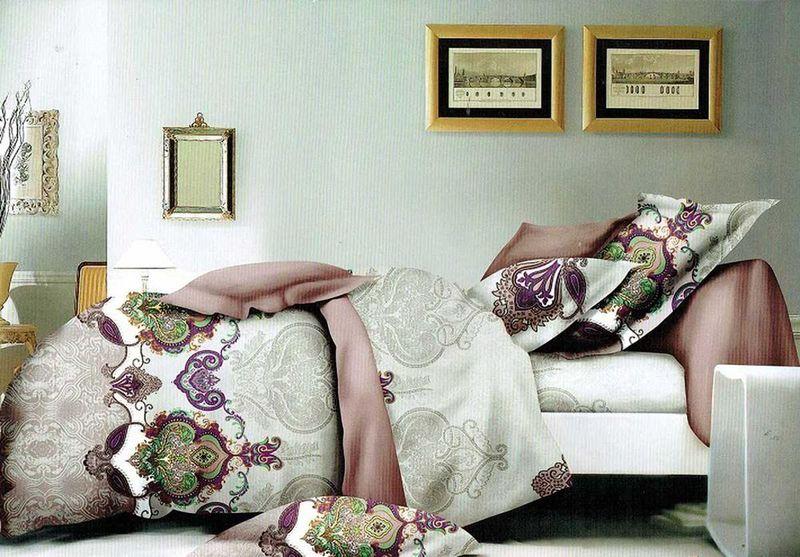 Комплект белья МарТекс Сулуу, 2-спальный, наволочки 70х70. 01-1228-201-1228-2