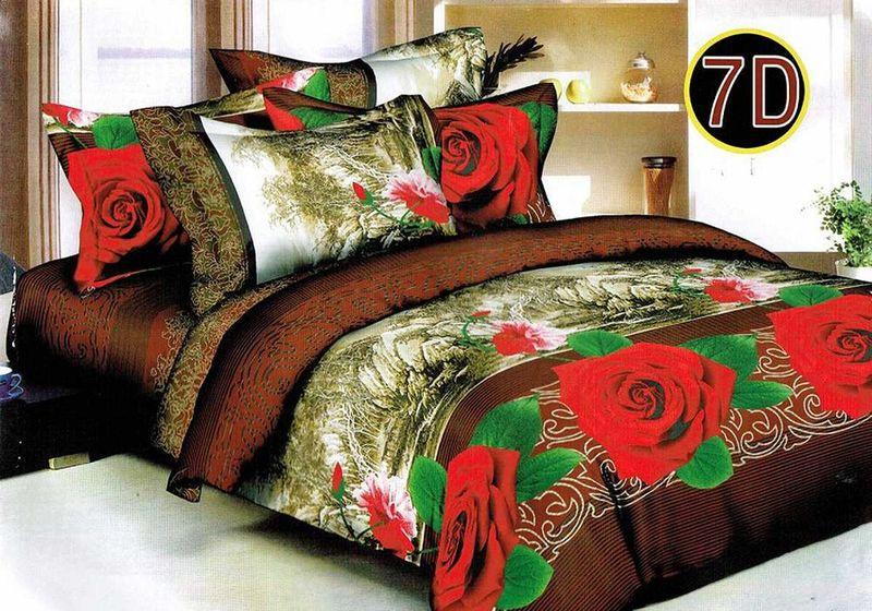 Комплект белья МарТекс Надежда, 1,5-спальный, наволочки 70х70. 01-1232-101-1232-1