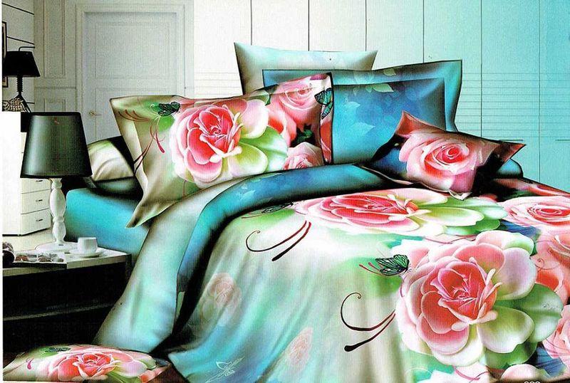 Комплект белья МарТекс, 1,5-спальный, наволочки 70х70. 01-1235-101-1235-1