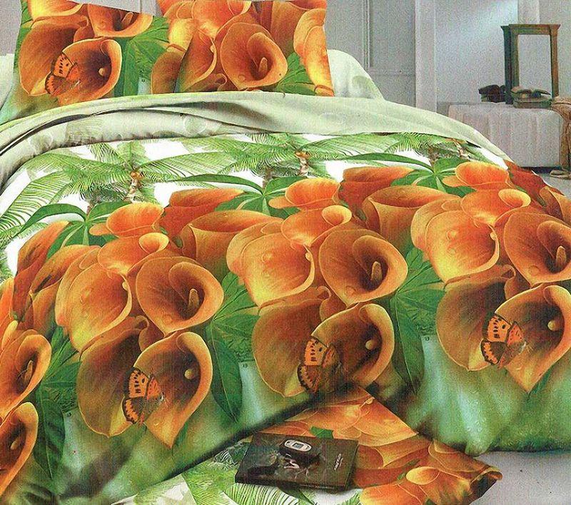 Комплект белья МарТекс Кокарде, 1,5-спальный, наволочки 70х70. 01-1238-101-1238-1