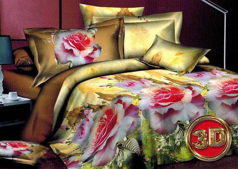 Комплект белья МарТекс  Алиса, 1,5-спальный, наволочки 70х70. 01-1266-101-1266-1