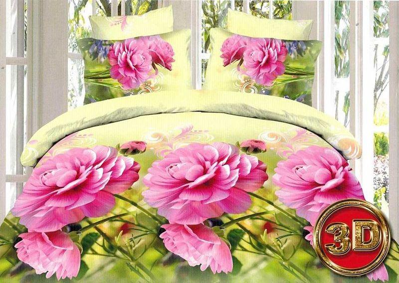 Комплект белья МарТекс Аромат, 1,5-спальный, наволочки 70х70. 01-1270-101-1270-1